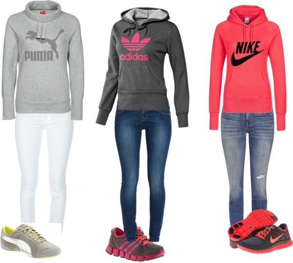 """Woman's """"Sporty"""" fashion by brenna-bunting on Polyvore"""