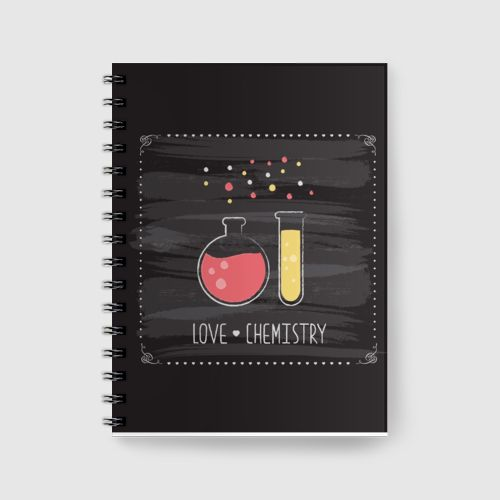 Notebook Love Chemistry dari Tees.co.id oleh Sugar Daddy