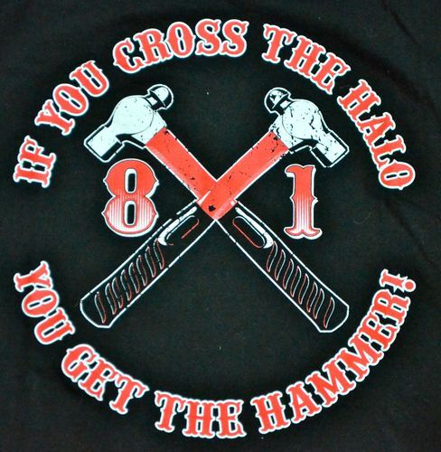 HELLS ANGELS CHICAGO Support 81 Shirt Chopper MC Outlaw Red White SYLHA