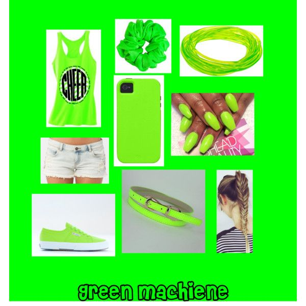 """""""Green machiene"""" by bird234 on Polyvore"""