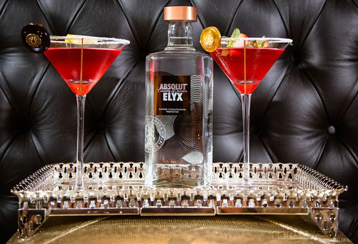 Tea based martinis, a modern twist on a retro bridal shower. Tea tinis, made with Asolut Elyx.