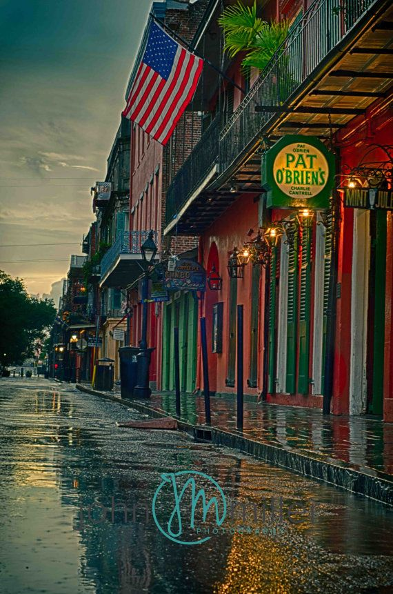 Pat O'Briens New Orleans French Quarter Art by JohnJPhotography