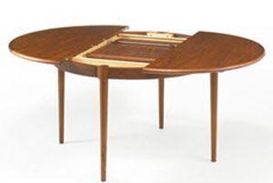 Mesa redonda de diseño escandinavo - DFS-120EXT - ArchiExpo