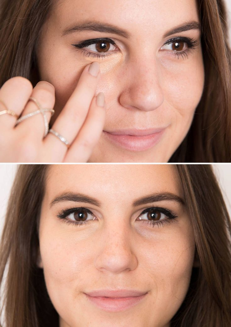 Best Concealer Tips - Under Eye, Dark Circle, and Contouring Concealers - Cosmo Dab an orange- or peach-colored concealer over dark under-eye circles with your ring finger.