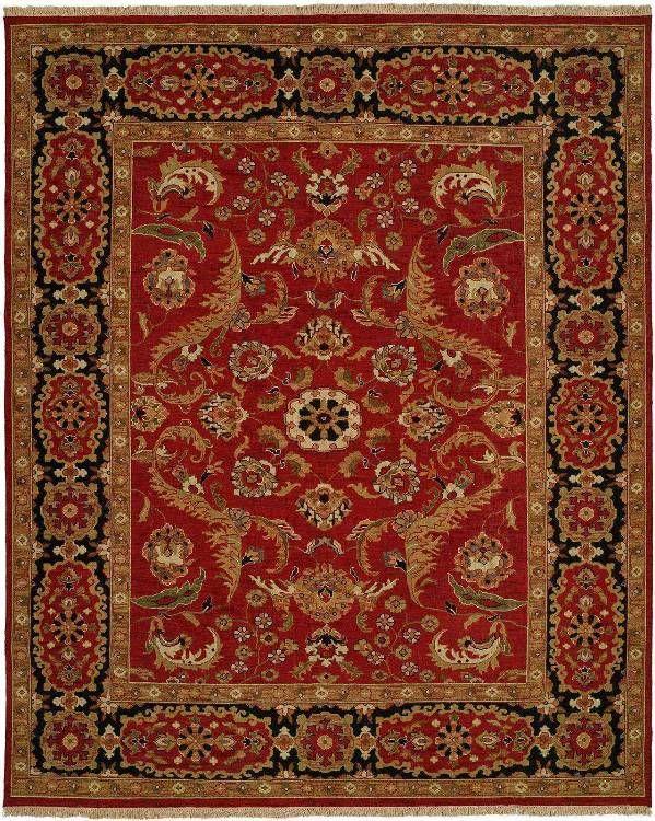 Sumarkan Su 215 Traditional Rug In Red And Black Design Interiordesign