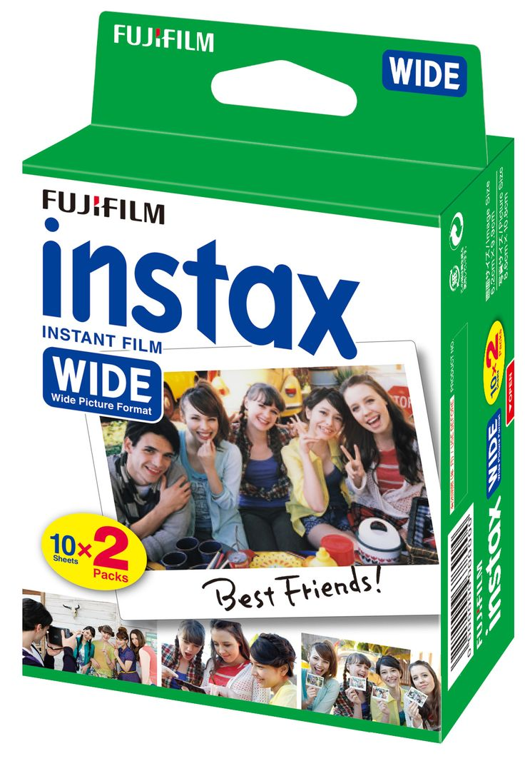 Instax wide film white 10 sheets x 2 packs