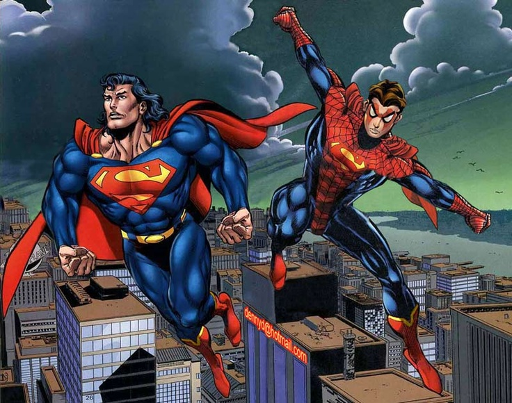 Long hair SuperMan and Super spidey | All kinds of ...