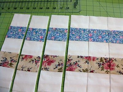Postage stamp quilt that's the way to do it!  Now I see this - after making one the hard way!