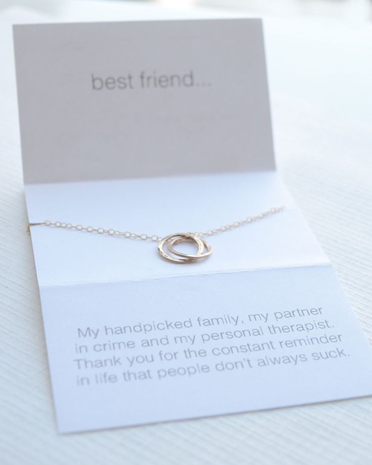 Olive Yew's Best Friend Necklace is a little sentimental with a funny twist. We know you and your friends have a wicked sense of humor, so we made a necklace as connected as the two of you. Choose rose gold, gold or silver.