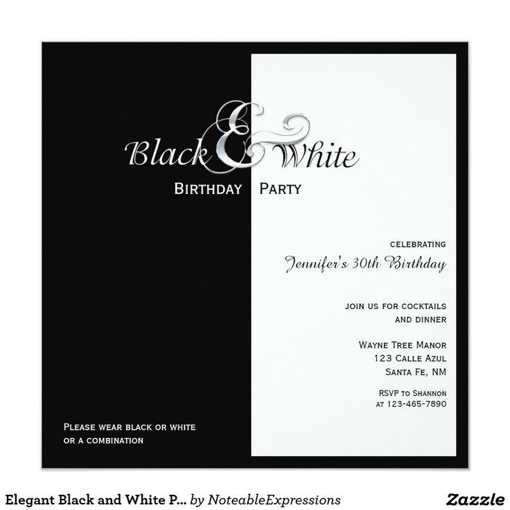 25 best White party themes ideas – Black and White Party Theme Invitations