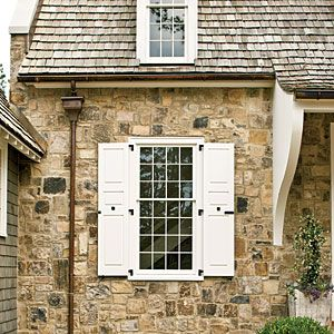 9 best images about gutters on pinterest trim color for Cottage style exterior shutters