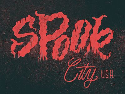 Spook City U.S.A. by Philip Eggleston #typography