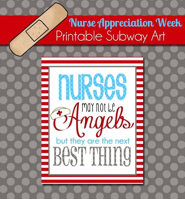 Nurse Appreciation Week: Free Printable Subway Art from ThePolkaDotPosie