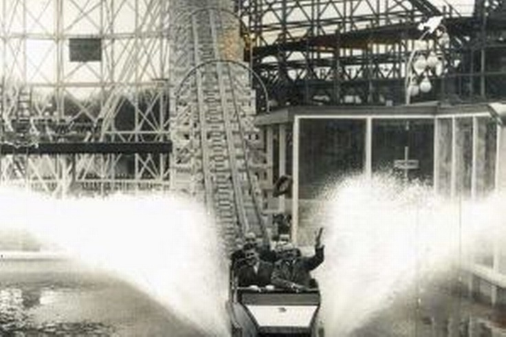 Water Chute, Belle Vue, Manchester.  Just as good as Disney World ... in its day.