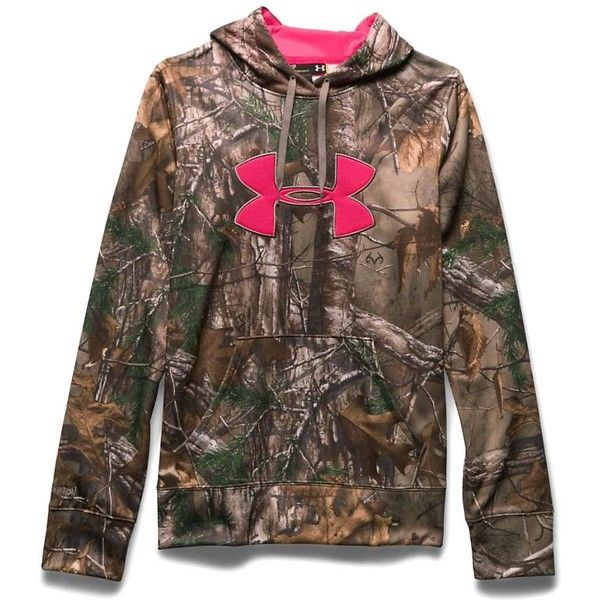 Under Armour Women's Camo Big Logo Hoodie ($75) ❤ liked on Polyvore featuring tops, hoodies, jackets, sweaters, realtree xtra, hooded sweatshirt, camouflage hoodie, under armour hoodie, camouflage browning hoodie and logo hoodies