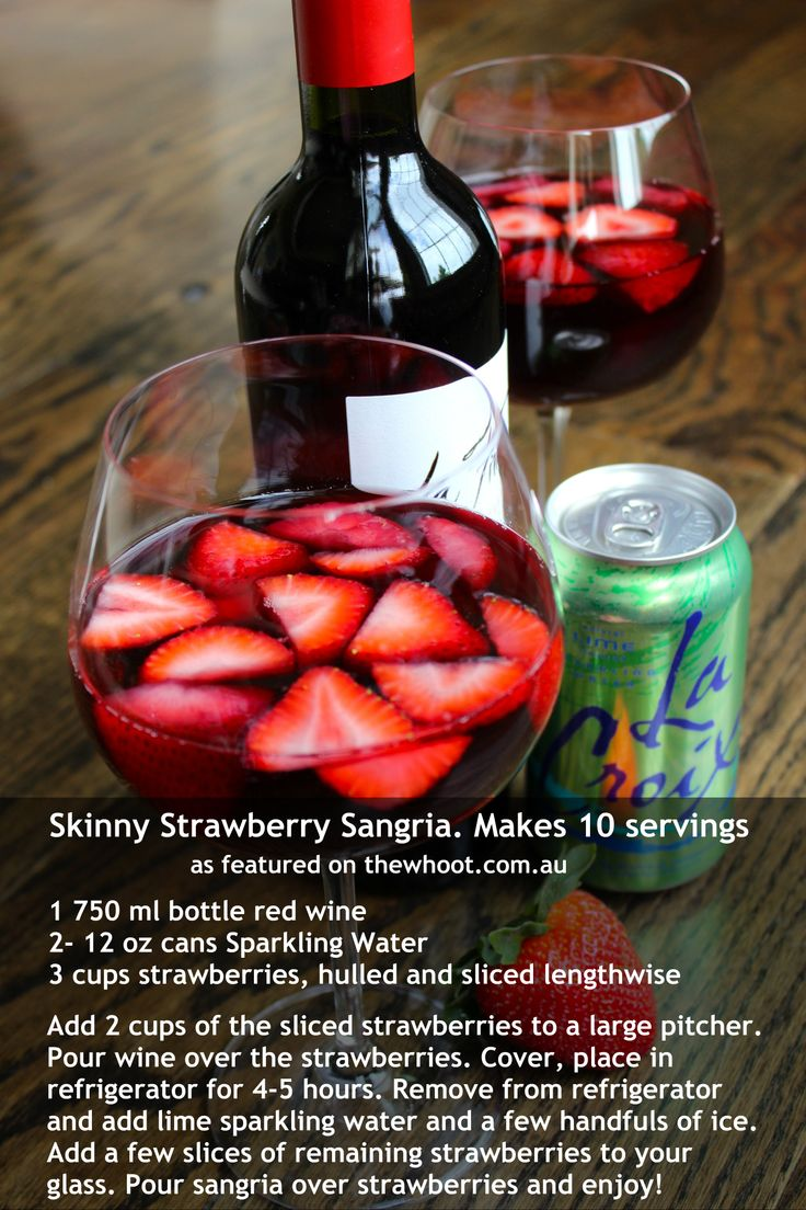 This skinny strawberry sangria is sure to hit the spot!