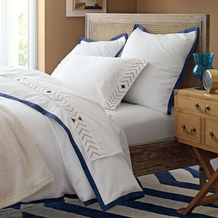 Harbour Cane Bed | Serena & Lily - Guest room