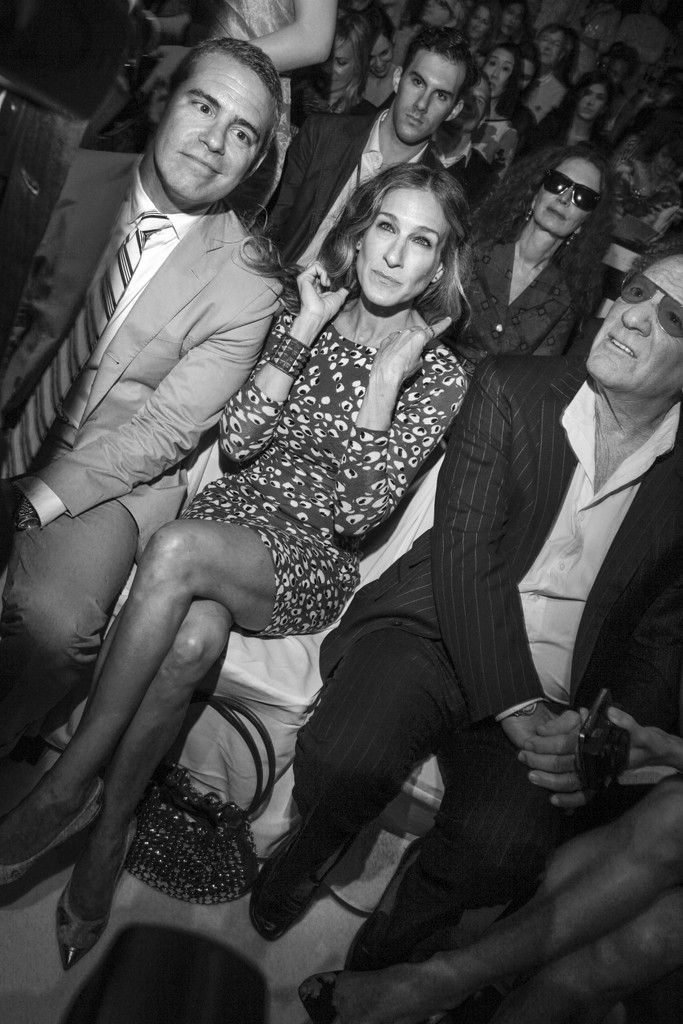 Andy Cohen, Sarah Jessica Parker, and Barry Diller front row at DVF