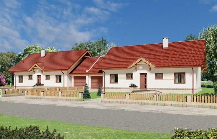 Uroczy, mały dom parterowy w zabudowie bliźniaczej, z poddaszem nieużytkowym, nadającym się do adaptacji.
