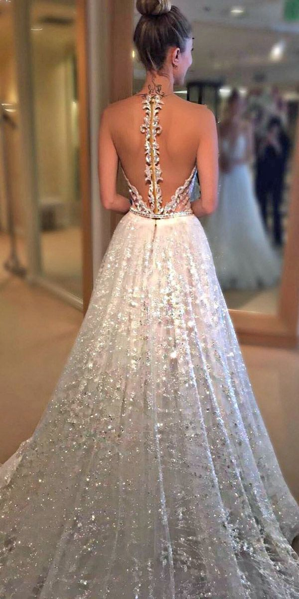 wedding dresses with illusion lace