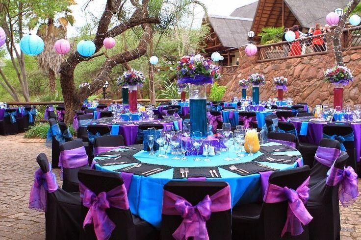 ~ Uma Linda Promessa ~: Paletas Improváveis: Roxo e azul turquesa no seu casamento