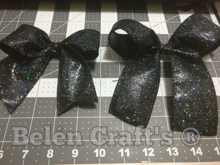 Cheer bow 5cm lentejuelas