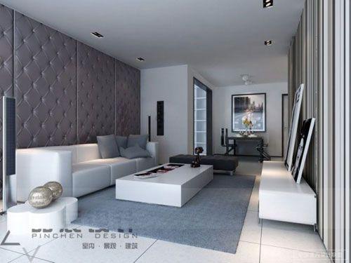 50 Incredible Living Room Interior Design Ideas. Contemporary living room in white and grey