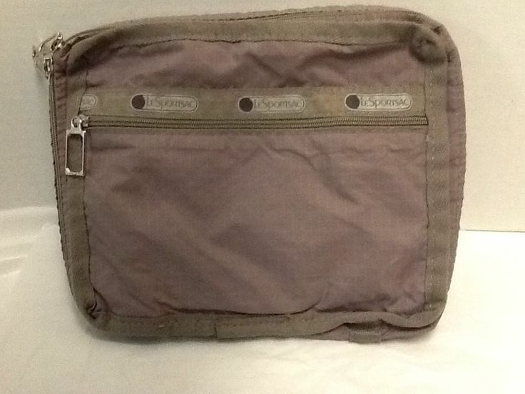 Le Sportsac Personal Items Make Up Toiletries Bag Zip Around Nude/Light Brown #LeSportsac