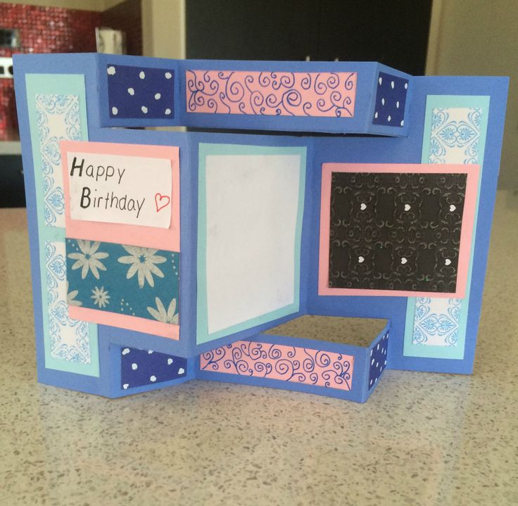 Trifold card! Visit my website for step-by-step instructions!