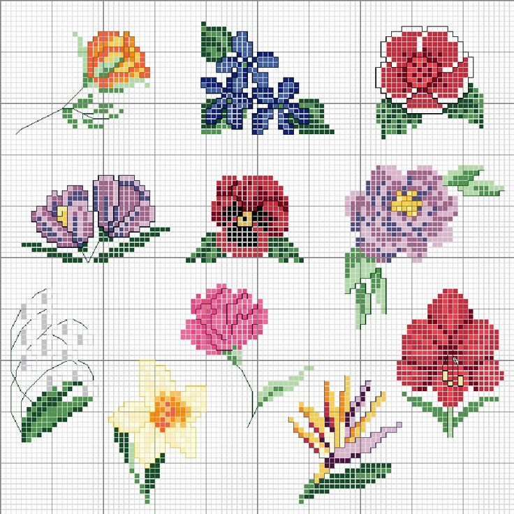 Images about cross stitch flowers on pinterest