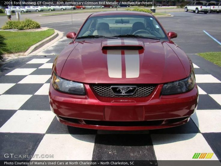 40th Anniversary Crimson Red Metallic / Medium Parchment 2004 Ford Mustang GT Coupe