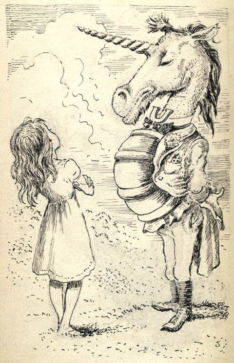 Through The Illustrated Looking Glass: Chapter 7 ~ The Lion And The Unicorn