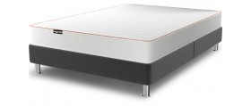Sml dbl GBP303 w/ standard mattress (pocket spring doesn't come in sml dbl); GBP152 base only... 335 in dbl w/ pocket spring; also in beige, red from Layzee... can sit on floor w/out legs... wooden legs only come w/ flower fabric; measurements are sml dbl 120 x 190; dbl 135 x 190