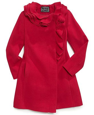 S. Rothschild Kids Coat, Girls Ruffle Coat - Kids Girls 7-16 - Macy's