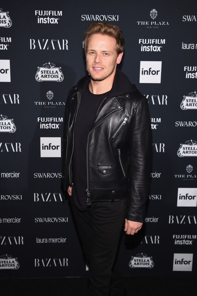 "Sam Heughan Photos Photos - Sam Heughan attends Harper's BAZAAR Celebration of ""ICONS By Carine Roitfeld"" at The Plaza Hotel presented by Infor, Laura Mercier, Stella Artois, FUJIFILM and SWAROVSKI on September 8, 2017 in New York City. Harper's BAZAAR Celebrates 'ICONS By Carine Roitfeld' At The Plaza Hotel Presented By Infor, Laura Mercier, Stella Artois, FUJIFILM And SWAROVSKI - Red Carpet"