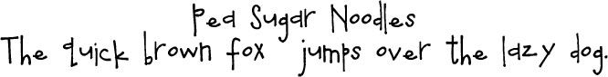 Pea Sugar Noodles, love this font! Might use for baby announcements :)
