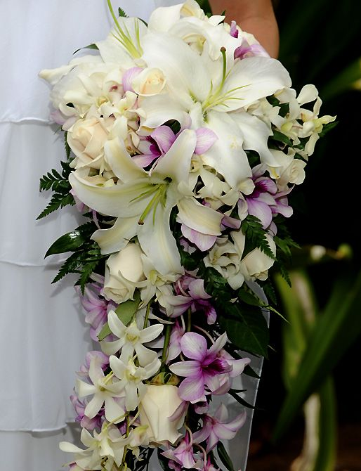 Bridal Bouquet Tropical Flowers : Ideas about hawaiian wedding dresses on