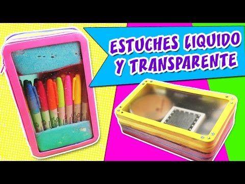 ESTUCHES LÍQUIDO Y TRANSPARENTE - Lapicera o Cosmetiquera - YouTube