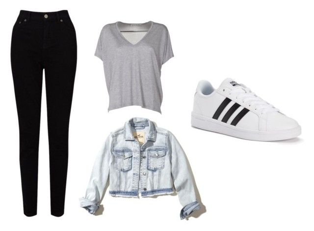Casual by juanaguzman on Polyvore featuring polyvore, fashion, style, Acne Studios, Hollister Co., EAST, adidas and clothing