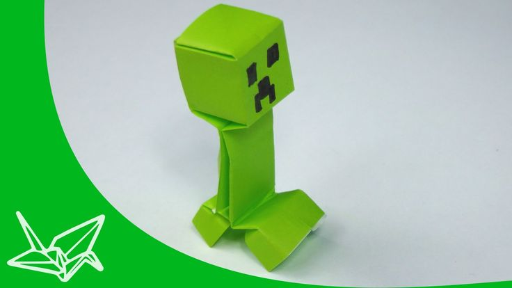 Minecraft Creeper Origami... For Ben