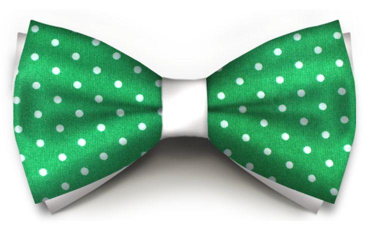 Verde Bright Cu Buline Albe Saten