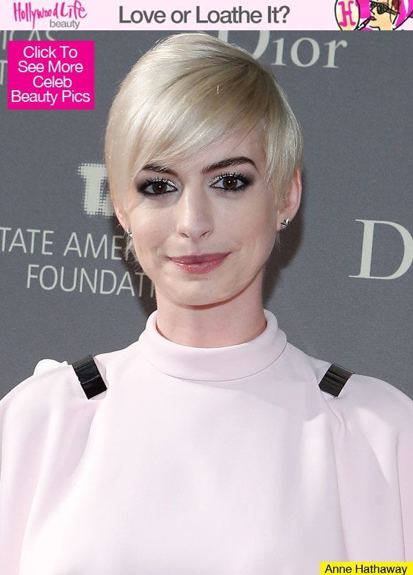 anne hathaway blonde hair 2013.... not sure if I like this or not