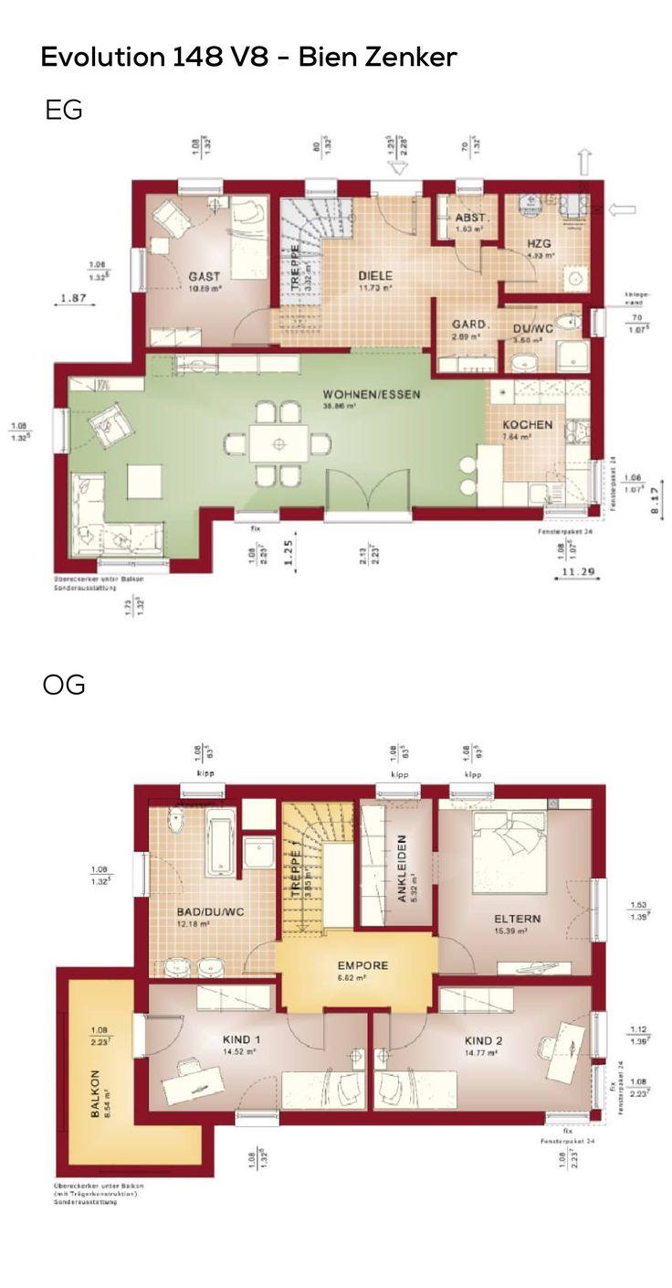 Grundriss Einfamilienhaus Modern Mit Flachdach Architektur