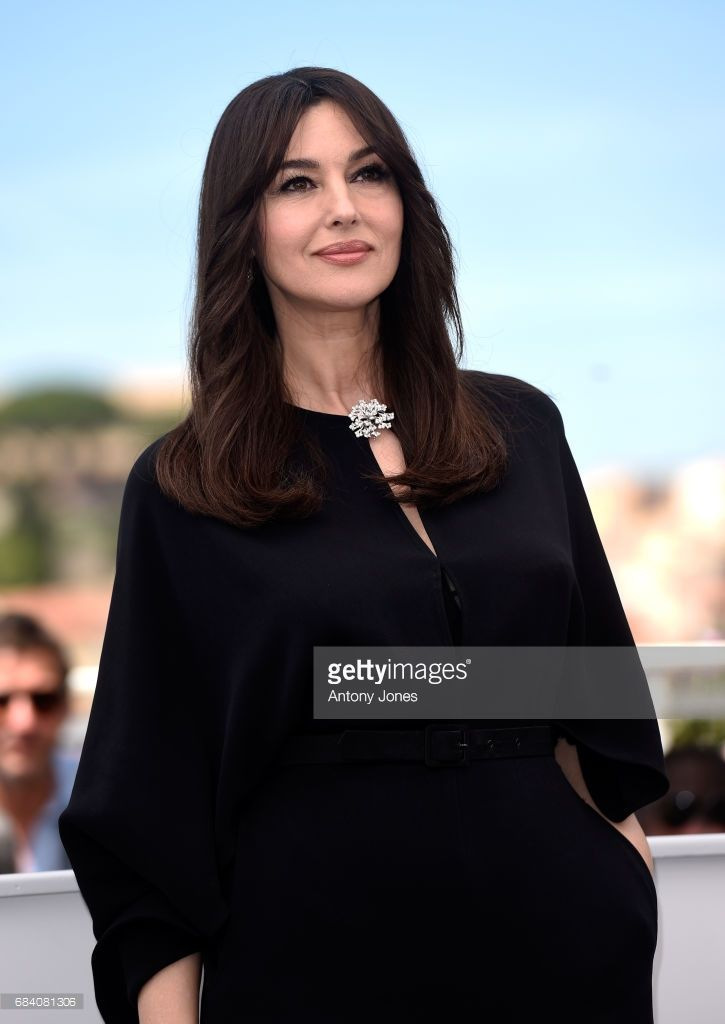 Monica Bellucci attends a photocall for her duty as Mistress of Ceremonies during the 70th annual Cannes Film Festival at Palais des Festivals on May 17, 2017 in Cannes, France.