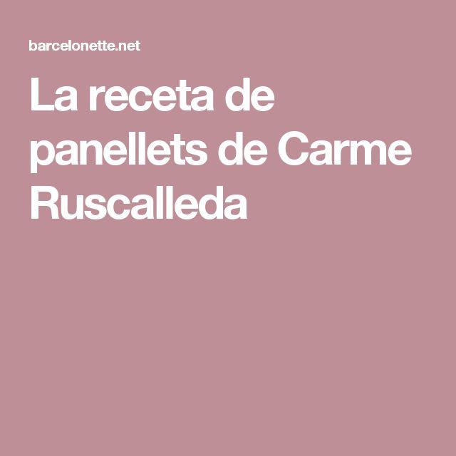 La receta de panellets de Carme Ruscalleda