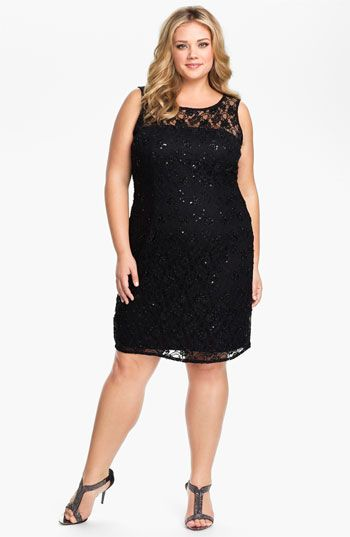 Adrianna Papell Lace Overlay Sheath Dress (Plus)   Nordstrom