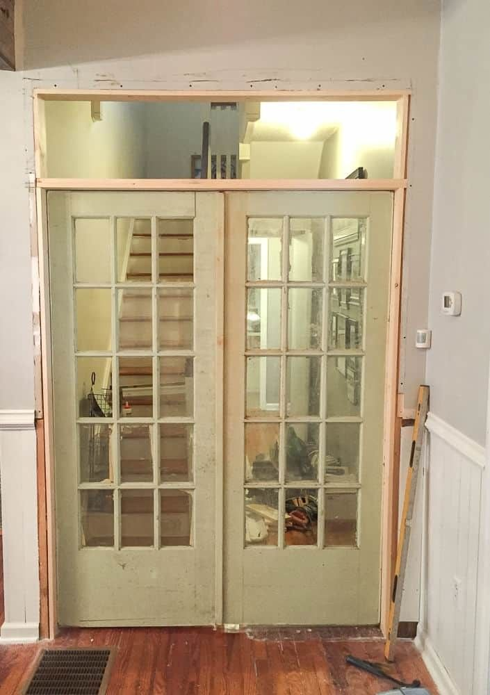 How To Install French Doors With A Transom Window Part 1 Hallway