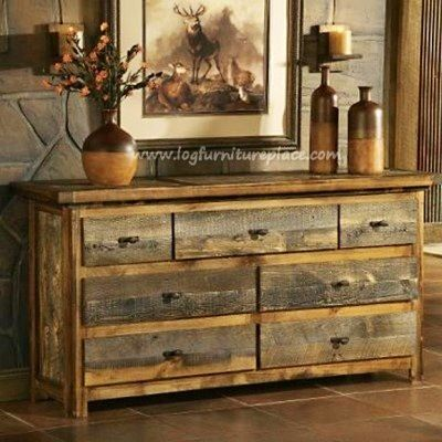Barn Wood Furniture Designs | ♥ Metal Accents or drawer faces would be a good addition