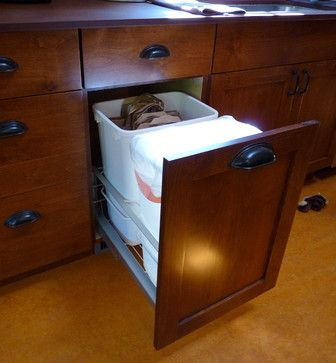 Kitchen Trash Cans Design Ideas, Pictures, Remodel, and Decor - page 3