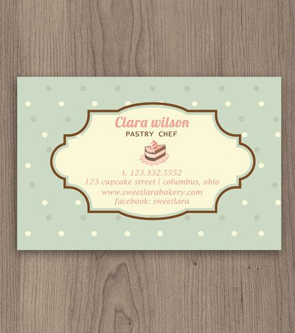 23 best pastry chef business cards images on pinterest bakery pastry chef business card customized template by naomigraphics colourmoves